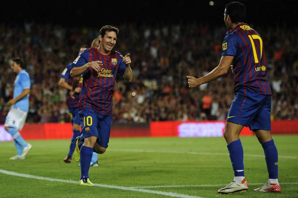 F.C. Barcelona 5 - S.S.C. Nápoles 0 (22-08-11) Trofeo Gamper