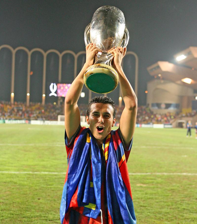 Pedro levanta la Supercopa de Europa 2009 (28-08-2009)