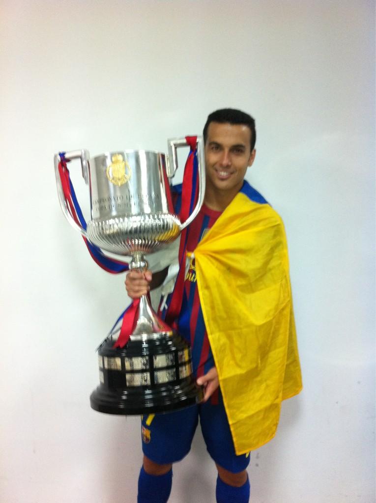 Pedro conquista su segunda Copa del Rey (25-05-12)