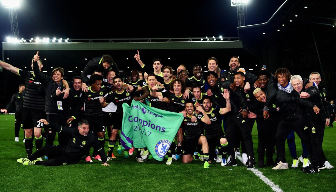 Pedro celebra el título de Premier League con el Chelsea en The Hawthorns (12-05-17) Darren Walsh