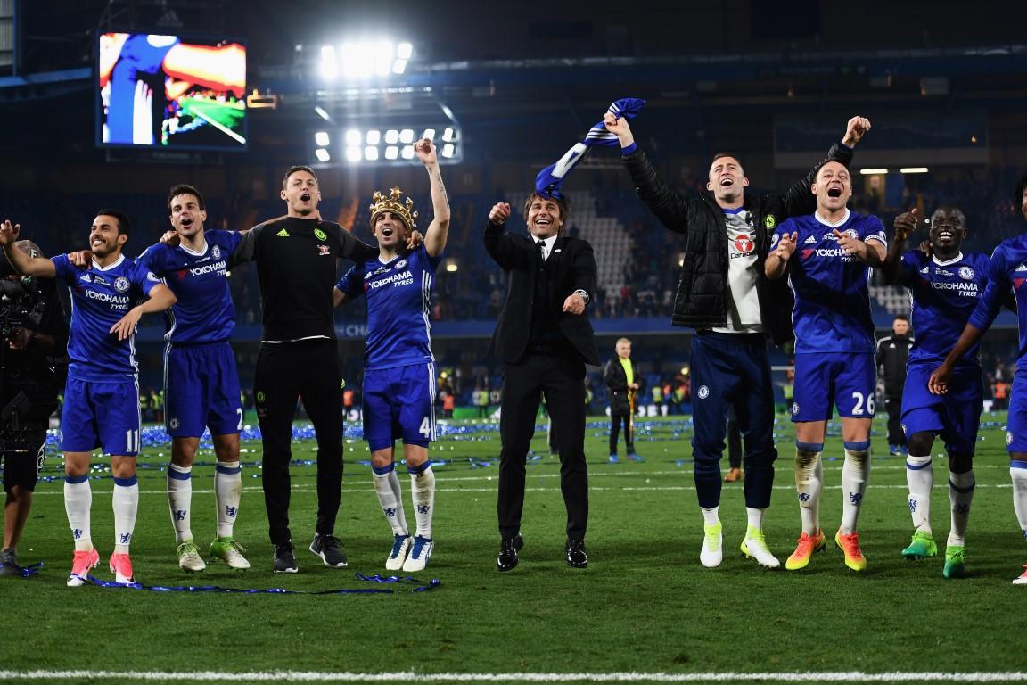 Pedro celebra el título de Premier League en Stamford Bridge (12-05-17) Darren Walsh
