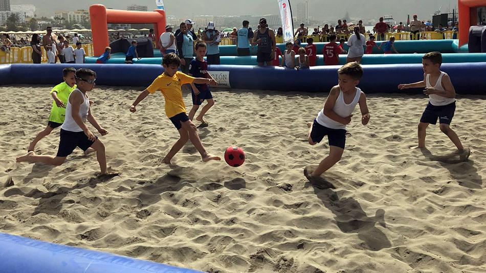 Éxito de convocatoria en el Torneo 3x3 de Fútbol Playa