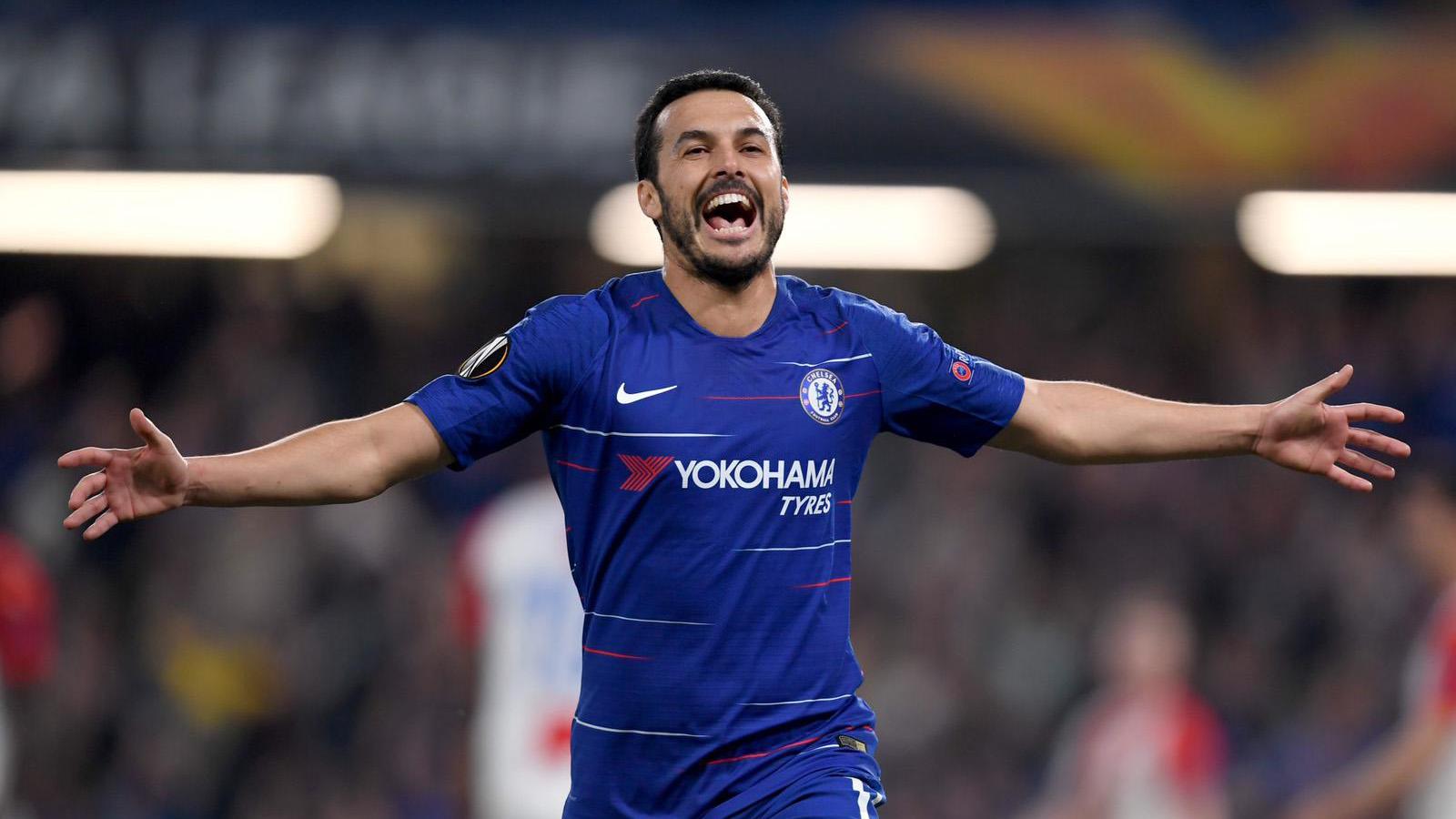 Pedro on-fire as Blues reach semi-finals (4-3)