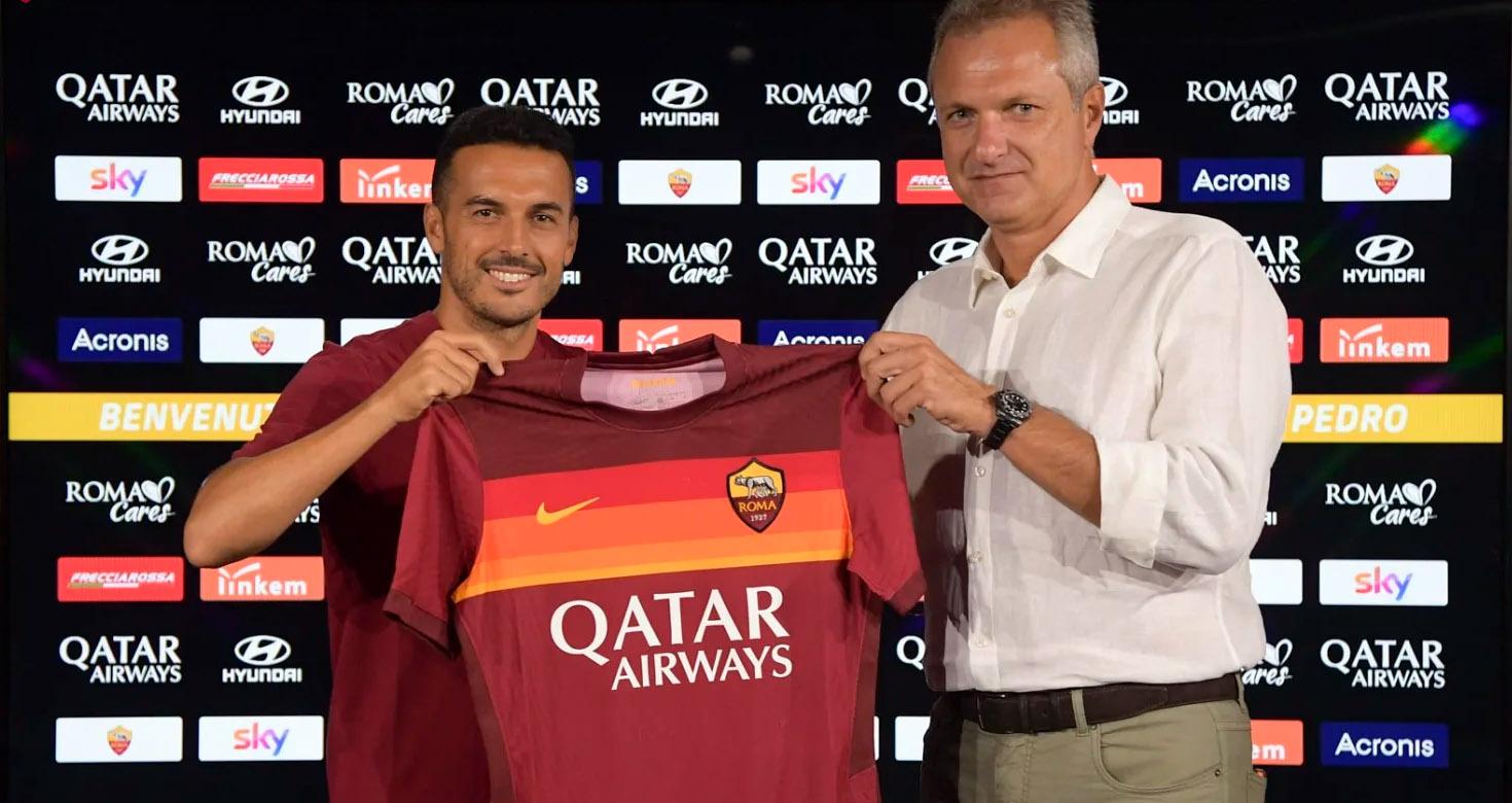 'Benvenuto alla Roma': Pedro, nuevo jugador giallorosso