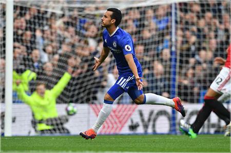 Pedro celebrating a home goal at The Bridge