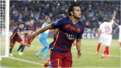 Pedro anota el gol de la victoria en Tiflis