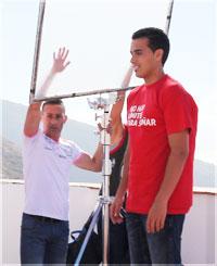 Pedro colabora en el rodaje de una campaña para Cáritas Diocesana Tenerife